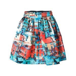 Alice + Olivia Venetian Butterfly Print Skirt, 2